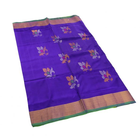 Uppada Jamdhi Flower Design Saree 3