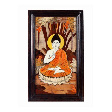 ROSEWOOD WALL PANNEL BUDDHA EMBOSSED