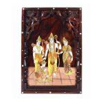ROSE WOOD RAMDARBAR INLAY WALL PANNEL WITH CARVING 1