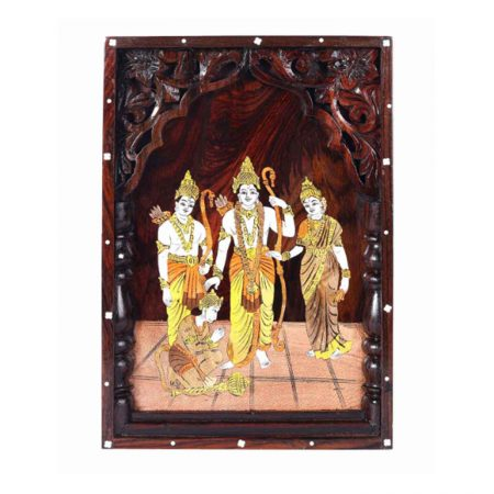 ROSE WOOD RAMDARBAR INLAY WALL PANNEL WITH CARVING