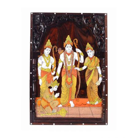 ROSEWOOD WALL PANNEL RAMA DARBAR INLAY