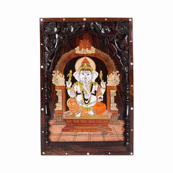 Roose Wood Ganesh Panel