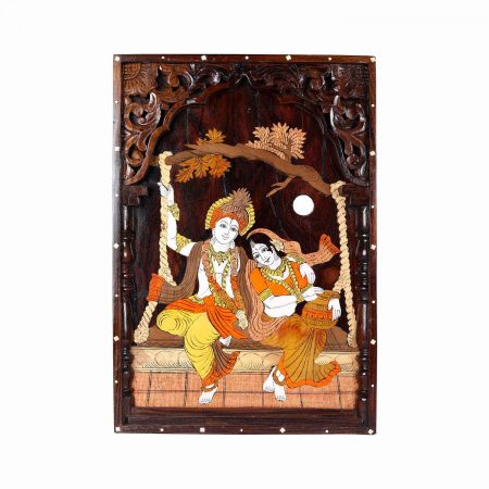 Roose Wood Radha Krishna Jhula  Panel Small