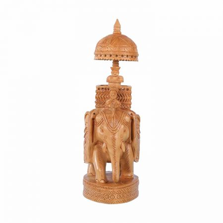 WHITE WOOD AMBARI ELEPHANT