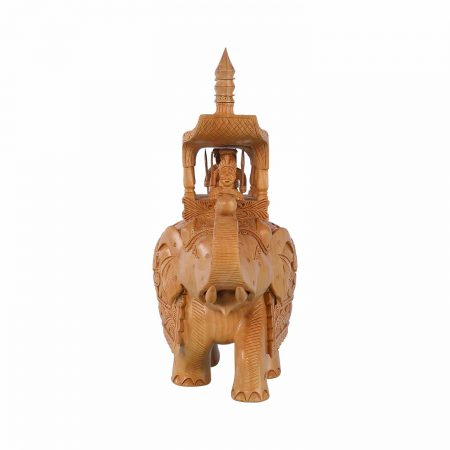 WHITE WOOD AMBARI ELEPHANT  BIG
