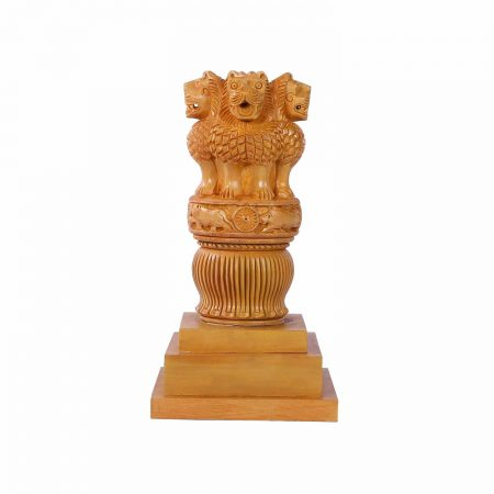 WHITE WOOD AHOKA PILLA WITH BASE