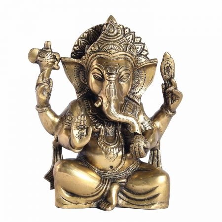 BRASS GANESH SITTING