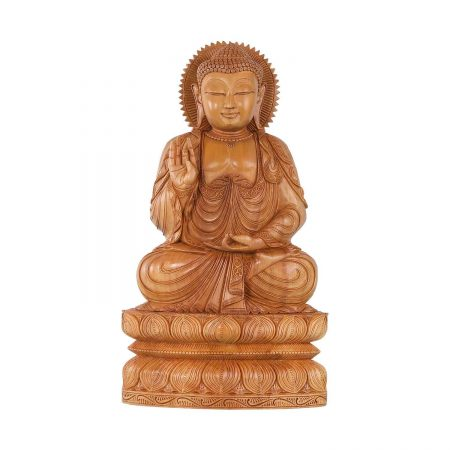 WHITE WOOD BUDDHA