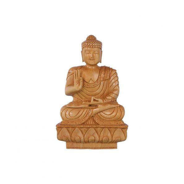 WHITE WOOD BUDDHA