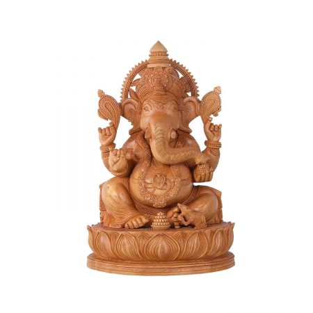 WHITE WOOD GANESH